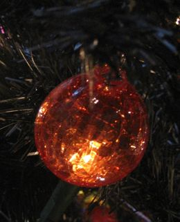 A glass tree ornament