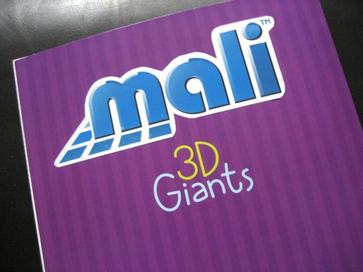 A leaving card with the customised logo: Mali 3D Giants