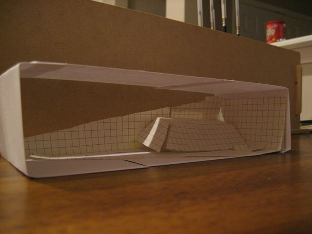 A paper model of a model railway